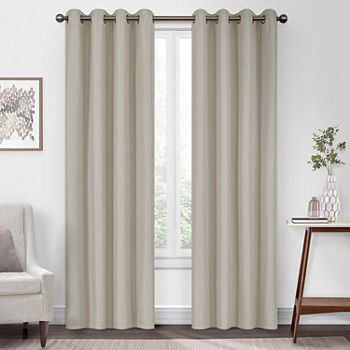 Eclipse Kira Blackout Grommet-Top Single Curtain Panel