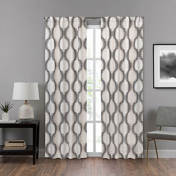 Eclipse Summit Geo Energy Saving Blackout Back-Tab Single Curtain Panel