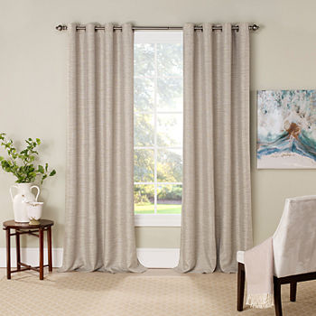 Eclipse Newport Jacquard Blackout Grommet-Top Single Curtain Panel