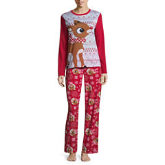 Rudolph The Red Nose Reindeer Family Pajama Set- Women's