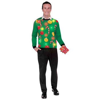 Light Up Ugly Sweater Adult Unisex Costume
