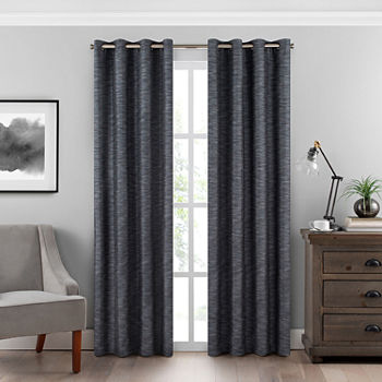Eclipse Warren Energy Saving 100% Blackout Grommet-Top Single Curtain Panel