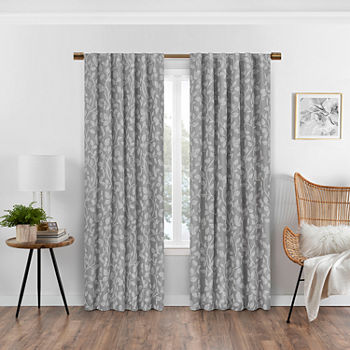 Eclipse Nora Botanical Blackout Back-Tab Single Curtain Panel