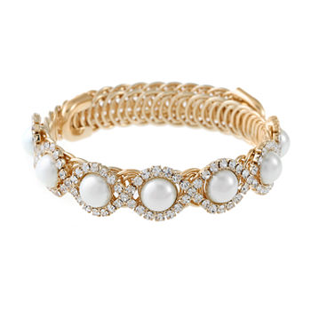 Monet Jewelry Simulated Pearl Wrap Bracelet