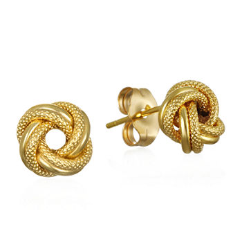 Made in Italy 14K Gold 7.7mm Knot Stud Earrings