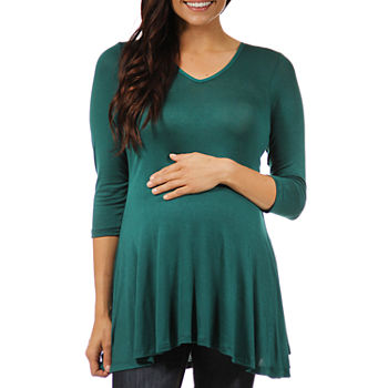 24/7 Comfort Apparel-Maternity Womens Knit Blouse