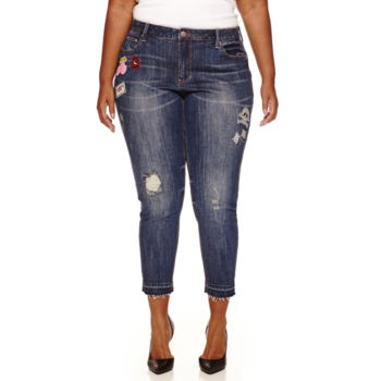 love indigo plus size jeans for women - jcpenney