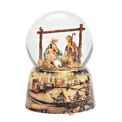 Fontanini Holy Family Musical Glass Glitterdome