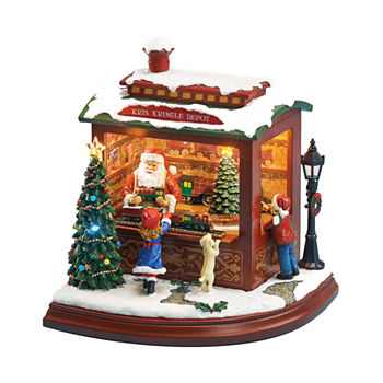 roman musical led santas trainshop figurine