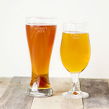Cathy's Concepts His and Her Pilsner Glass Set