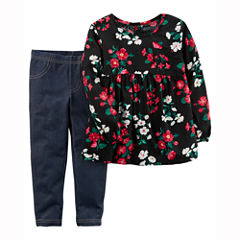 Carter's 2-pc. Floral Pant Set Girls