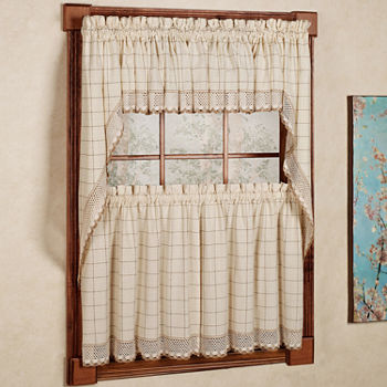 Adirondack Cotton Kitchen Window Curtain Set