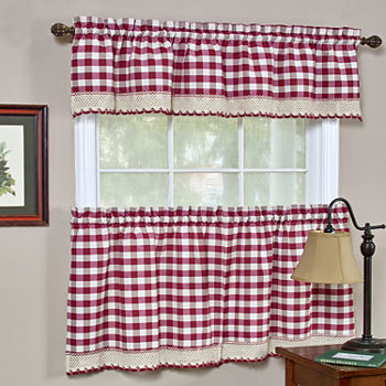 Red Kitchen Curtains for Window - JCPenney