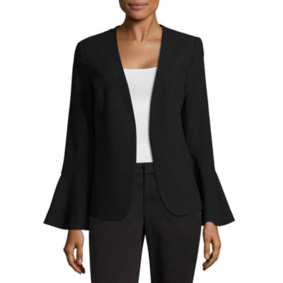 Black long sleeve diamond patterned crop jacket
