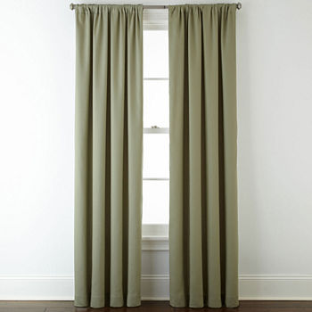 JCPenney Home Energy Saving Rod-Pocket Single Curtain Panel