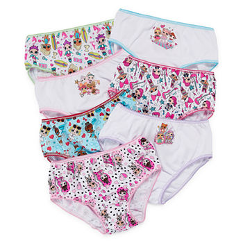 Little Girls 7 Pack LOL Brief Panty
