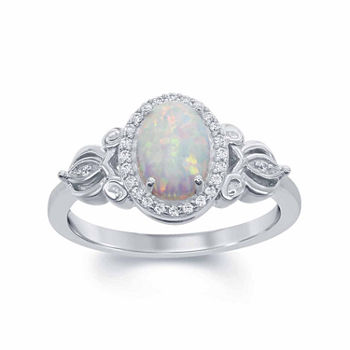 gold c for rings htm girls birthstone with oval genuine an october ring