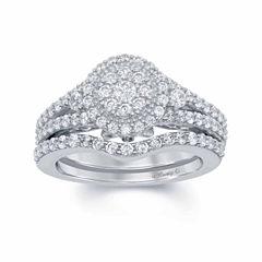 Enchanted by Disney 1 C.T. T.W. Diamond & Blue Lab Created Sapphire 14K White Gold