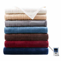Woolrich Heated Plush To Berber Electric Blanket