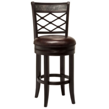 Elegant High Back Wood Bar Stools
