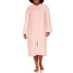 Earth Angels Long Sleeve Plush Zip Robe