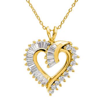 14k gold heart fine necklaces pendants for jewelry watches 14k gold heart fine necklaces pendants for jewelry watches jcpenney aloadofball Image collections