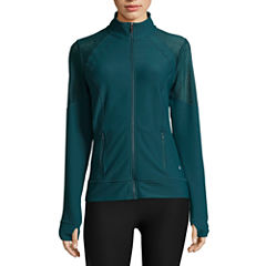 Xersion Performance Track Jacket with Mesh Insets