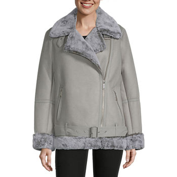 BCBGMAXAZRIA Sherpa Heavyweight Faux Fur Coat