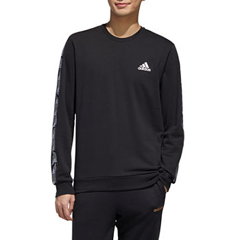 adidas Athletic M E Tape Mens Crew Neck Long Sleeve Sweatshirt