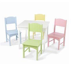 KidKraft® Nantucket Table and 4 Pastel Chairs Set