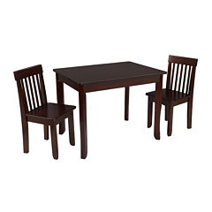 KidKraft® Avalon Table II and 2 Chairs Set - Espresso