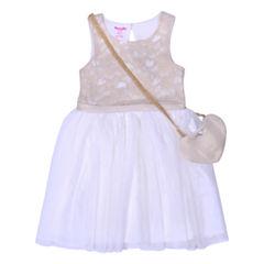 Nanette Baby Short Sleeve Skater Dress - Toddler Girls