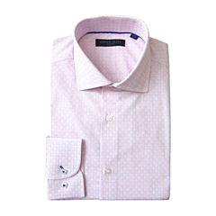 Andrew Fezza Long Sleeve Woven Checked Dress Shirt - Slim
