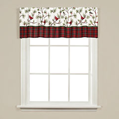 Saturday Knight Winter Birds Rod-Pocket Tailored Valance