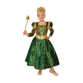 Child Princess Gilded Green Girls Costume