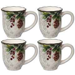 JCPenney Home Pineberry 4-pc. Coffee Mug
