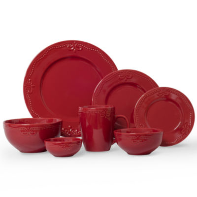 average rating. Item Typedinnerware sets  sc 1 st  JCPenney & Dinnerware Sets Red Closeouts for Clearance - JCPenney