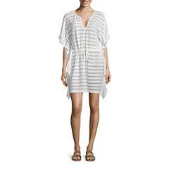 Porto Cruz Stripe Knit Swimsuit Cover-Up Dress