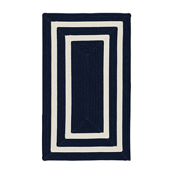 Colonial Mills Monica Double Border Braided Rectangular Reversible Indoor/Outdoor Rugs