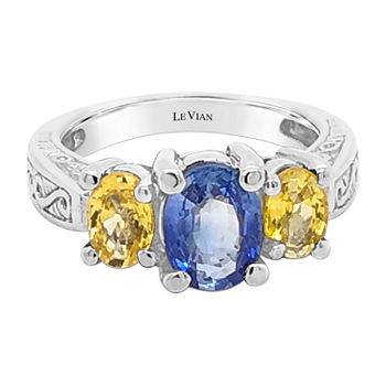 LIMITED QUANTITIES! Le Vian Grand Sample Sale™ Ring featuring Cornflower Ceylon Sapphire™ Yellow Sapphire set in 14K Vanilla Gold®