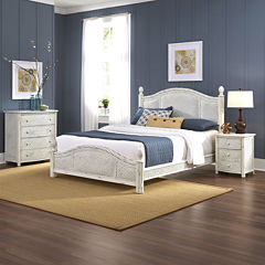 Lucia Wicker Bed, Nightstand and Chest