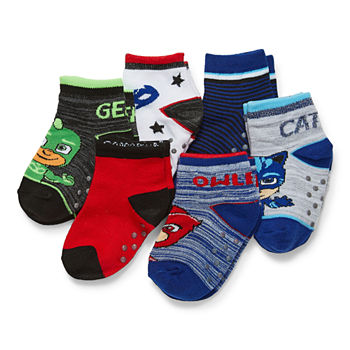 Toddler Boys 6 Pair PJ Masks Quarter Socks