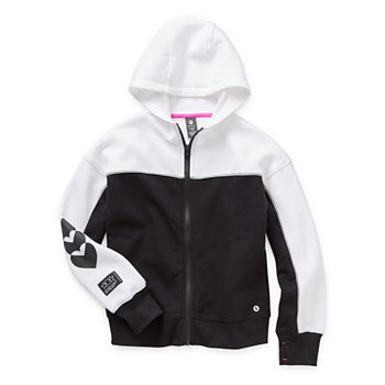 Xersion Cotton Fleece Little & Big Girls Hoodie