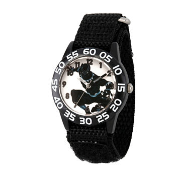 Marvel Time Teacher Marvel Boys Black Strap Watch-Wma000227