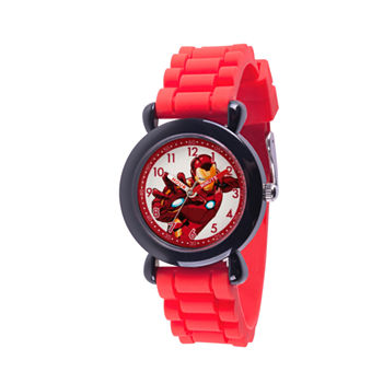 Marvel Avengers Boys Red Strap Watch-Wma000236