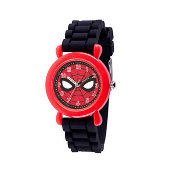 Marvel Marvel Boys Black Strap Watch-Wma000238