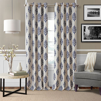 medallion west elm printed kt pin curtain flax belgian bedroom curtains linen
