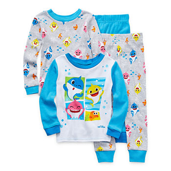 Toddler Boys 4-pc. Baby Shark Pajama Set