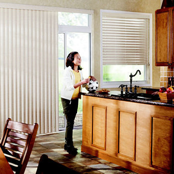 LEVOLOR Fabric Custom Cordless Vertical Blinds