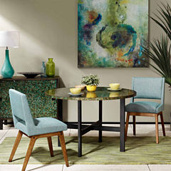 INK IVY Mozart Mosaic Round Dining Table